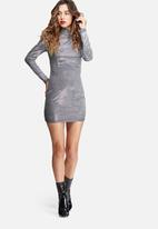 Missguided - Glitter high neck mini dress