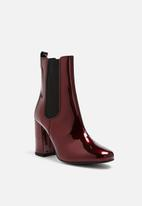 Pieces - Antonia patent leather chelsea boot