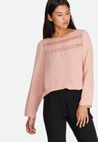 dailyfriday - Lace inset blouse
