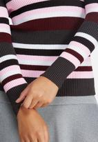 dailyfriday - Striped roll neck ribbed skinny knit