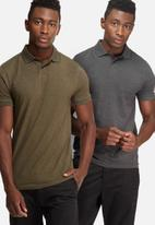 basicthread - 2 Pack muscle fit polo