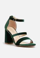 dailyfriday - Velvet block heel