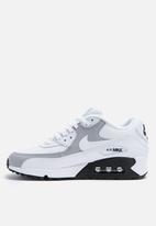 Women's Nike Air Max 90 White Wolf Grey Black Running Shoes 325213 126 Size 9.5