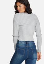 Missguided - Extreme rib basic crop jumper