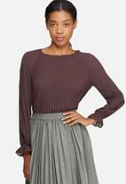 ONLY - Cherry pleat top