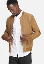 Selected Homme - Mark suede bomber jacket