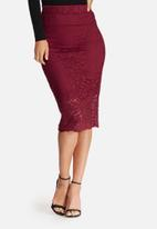 dailyfriday - Scalloped lace pencil skirt