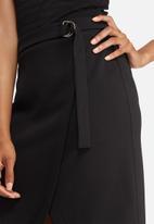 dailyfriday - Mock wrap pencil skirt