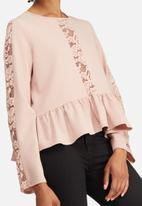 dailyfriday - Peplum lace inset blouse