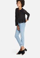 dailyfriday - Peplum lace inset blouse