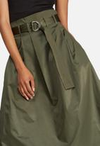 dailyfriday - Belted high waisted midi skirt