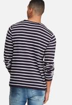 basicthread - Stripe knit pullover