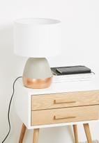 Sixth Floor - Cement cylinder lamp
