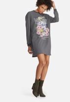 Missguided - Wild youth graphic printed rock sweat dress