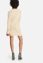 Missguided - Rib detail flared cuff sweat dress