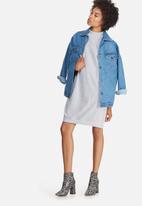 Missguided - Pocket high neck sweat dress