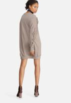 Missguided - Frill sleeve sweat dress