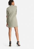 Missguided - Eyelet neck detail rib sweat dress