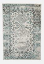 Hertex Fabrics - Karim blue surf rug- blue & cream