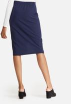 dailyfriday - Mock wrap pencil skirt