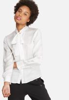 dailyfriday - Satin kitty bow blouse