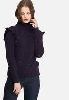 dailyfriday - Frill sleeve knit