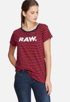 G-Star RAW - Glenna straight stripe tee