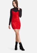 Daisy Street - Crushed velvet cami dress