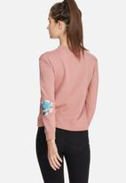 Daisy Street - Rose embroidered sweat top
