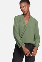 dailyfriday - Wrap front blouse