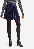 dailyfriday - Velvet pleated mini skirt