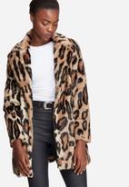 Glamorous - Leopard faux fur coat