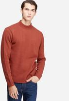 basicthread - High neck chunky knit