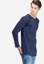 basicthread - Raw edge pullover knit