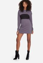 Missguided - Black panel sweat dress