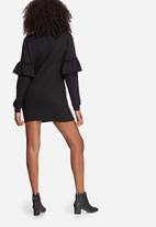 Missguided - Frill sleeve sweat dress