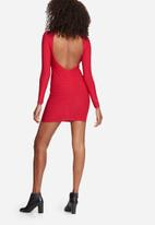 Missguided - Open back ribbed mini dress