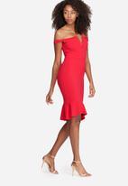 Missguided - V bar bardot frill bottom dress
