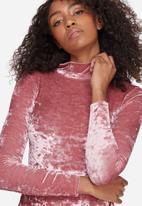 Missguided - Velvet high neck bodysuit