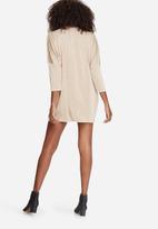 Missguided - Oversized choker neck slinky dress