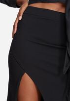 Missguided - Stretch crepe split side maxi skirt
