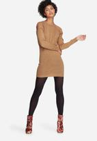 dailyfriday - Cold shoulder knit dress