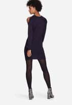 dailyfriday - Cold shoulder knit dress