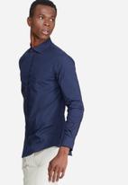 basicthread - 2-Pack plain long sleeve poplin shirt