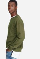 basicthread - Oversized drop shoulder pullover crew sweat