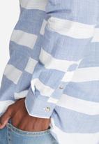 basicthread - Stripe oxford slim fit shirt