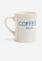 Temerity Jones - Notebook coffee mug