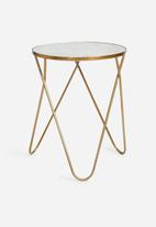 Sixth Floor - Marble copper side table