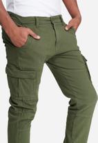 basicthread - Slim cuffed utility pants