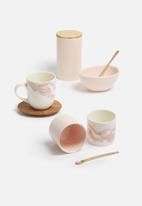 Love Milo - Pink bowl & gold spoon